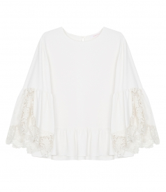 SEE BY CHLOE - LACE EMBROIDERED BLOUSE