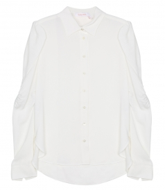 SHIRTS - RUCHED CREPE SHIRT
