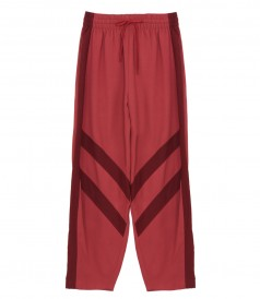 PANTS - HIGH-WAIST STRIPED PANEL SLOUCH PANTS