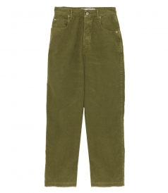 KIM CORDUROY GREEN PANTS