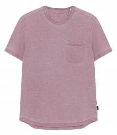 CREW NECK - BURNOUT POCKET T-SHIRT