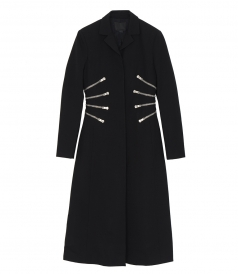 LONG COAT WITH ZIPPER DETAILS