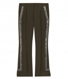 PANTS - MOHAIR-WOOL BLEND SIDE EMBELLISHED PANTS