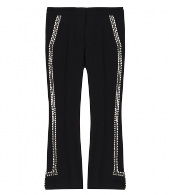 No.21 - MOHAIR-WOOL BLEND SIDE EMBELLISHED PANTS