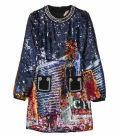 No.21 - SEQUINNED DRESS FT EMBELLISHED DETAILING