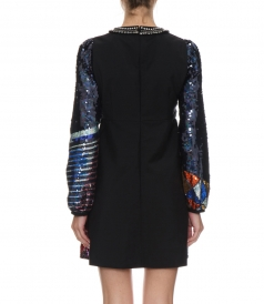 SEQUINNED DRESS FT EMBELLISHED DETAILING