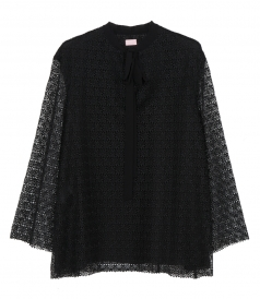 GIAMBA BY GIAMBATTISTA VALLI - FLORAL LACE BLOUSE