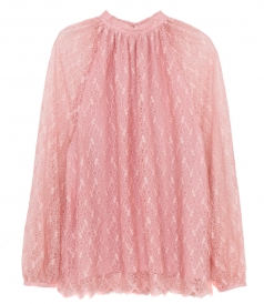 CLOTHES - LACE BAND COLLAR SHIRT