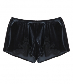 I.D. SARRIERI - ROSE IMEPRIAL VELVET SHORT PANTS WITH LACE INSERTS