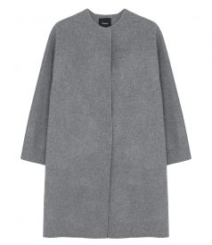ROUNDED WOOL COAT