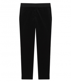 STRETCH VELVET STRAIGHT TROUSERS