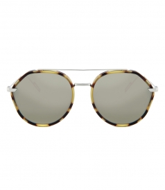 DIOR SUNGLASSES - BLACK & BROWN TORTOISE 56 ROUND DIOR SUNGLASSES