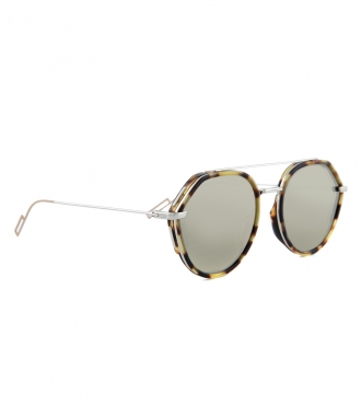 BLACK & BROWN TORTOISE 56 ROUND DIOR SUNGLASSES