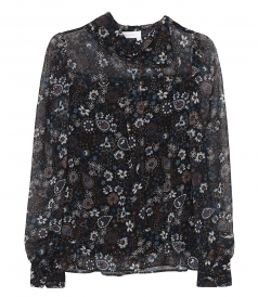 FLORAL PAISLEY SHEER BLOUSE
