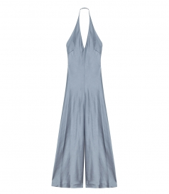 CLOTHES - WASH & GO WOVEN HALTER WIDE LEG JUMPSUIT