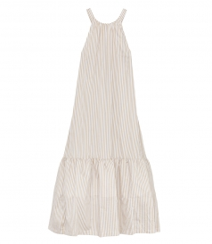 LONG STRIPED TENT DRESS