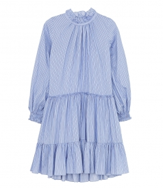 DAY - LS STRIPED A LINE MINI DRESS