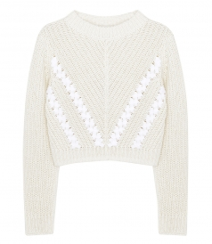 KNITWEAR - LS CROPPED PULLOVER