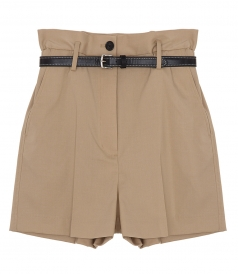 SHORTS - PAPER BAG WOOL SHORTS