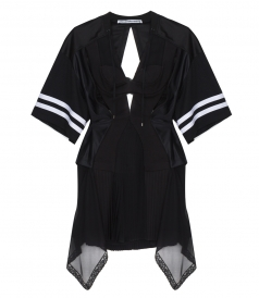 ALEXANDER WANG - ATHLETIC MESH FOOTBALL DRESS