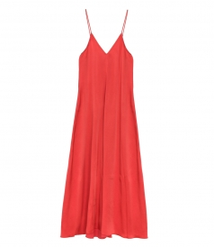 CLOTHES - LONG VISCOSE SLIP DRESS