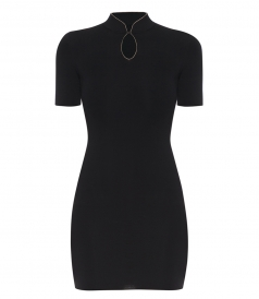 ALEXANDER WANG - TEE DRESS WITH BALL CHAIN