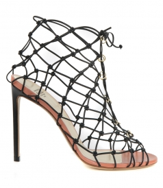 SANDALS - FISHNET BOOTIE