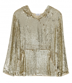 CLOTHES - SEQUIN BLOUSE WITH HOOD
