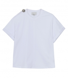 CLOTHES - SS T SHIRT WITH SHOULDER SLIT