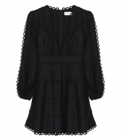 ZIMMERMANN - HEATHERS FLOUNCE SHORT DRESS
