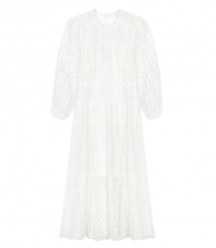 ZIMMERMANN - WAYFARER BRODERIE ANGLAISE COTTON MIDI DRESS