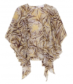 CLOTHES - TIGER PRINT FLOUNCY BLOUSE