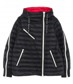 CASUAL JACKETS - PADDED PUFFER-STYLE MOTO JACKET