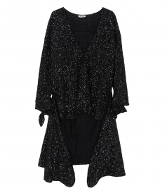 CLOTHES - SEQUINED ASYMMETRIC DRESS