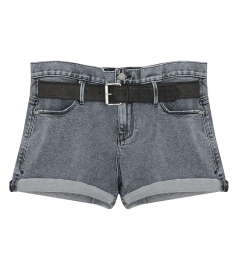 SHORTS - BAGGY SHORTS WITH BELT