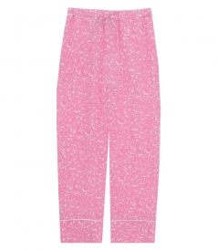MARNI - FLORAL DRAWSTRING FLARED TROUSERS