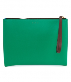 BAGS - BLUE AND GREEN LEATHER POCHETTE