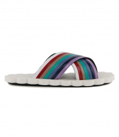 SHOES - RAINBOW SLIDES