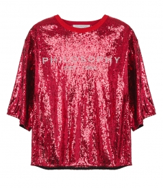 JUST IN - LOGO EMBELLISHED BLOUSE