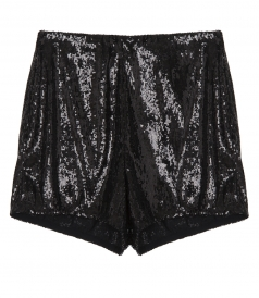 SHORTS - EMBELLISHED SEQUIN SHORTS