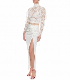 ALBA FRINGED SILK SKIRT