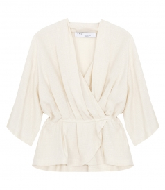 CLOTHES - WOOLIA WRAP BLOUSE