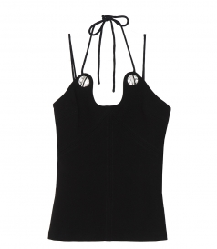 TOPS - CURVED SEAM CREPE TANK