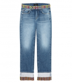 JEANS - FRINGES BEADS DNM BOYFRIEND