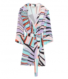 EMILIO PUCCI - SHELL PRINT BELTED WRAP DRESS