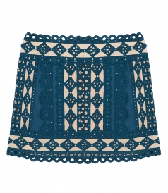 ZIMMERMANN - MONCUR STUDDED MINI SKIRT