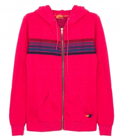 AVIATOR NATION - 5 STRIPE UNISEX ZIP HOODIE
