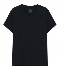 SAVE KHAKI - S/S SUPIMA JERSEY V-NECK TEE