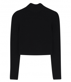 ALEXANDER WANG - CROPPED TURTLENECK LS PULLOVER