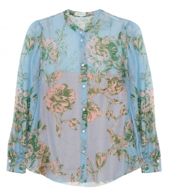 SHIRTS - CHIFFON MAO COLLR SHIRT